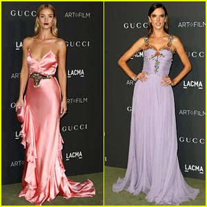 Rosie Huntington-Whiteley & Alessandra Ambrosio are LACMA Gala Beauties
