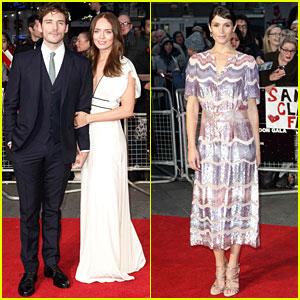 Sam Claflin & Wife Laura Make Cute Couple at 'Their Finest' Premiere