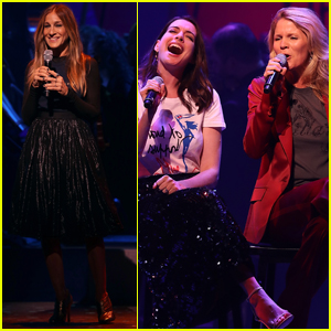 Anne Hathaway & Sarah Jessica Parker Showcase Their Vocal Talents at Hillary Clinton's Broadway Fundraiser