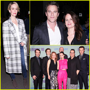 Sarah Paulson Has Theatre Night At Off-Broadway 'Love, Love, Love' Performance!