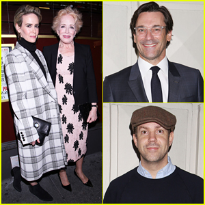 Sarah Paulson Supports Girlfriend Holland Taylor At 'The Front Page' Broadway Opening Night!