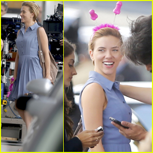 Scarlett Johansson Continues Filming 'Rock That Body' in NYC