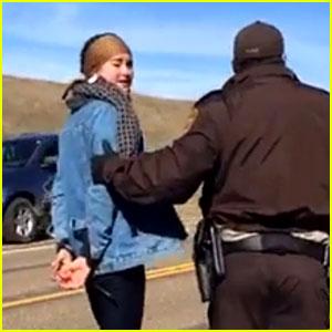 Shailene Woodley Films Arrest on Facebook Live - Watch Video