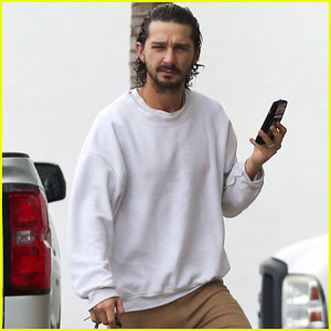 Shia LaBeouf Sports Wet Hair for Sherman Oaks Coffee Run
