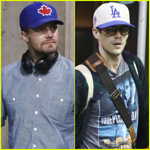Stephen Amell & Grant Gustin Both Touch Down in Vancouver