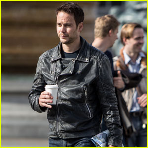Taylor Kitsch Looks Smokin' Hot in a Leather Jacket for 'American Assassin' Filming in London