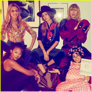 Taylor Swift Dresses as Deadpool While Celebrating Halloween With Her Squad