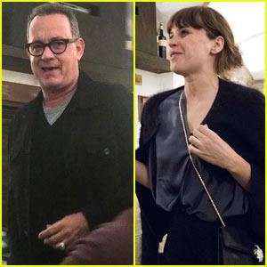 Tom Hanks, Felicity Jones, & 'Inferno' Cast Grab Dinner in Italy