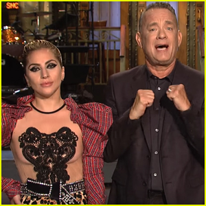 Tom Hanks & Lady Gaga Go Glam Rock For in 'SNL' Promo - Watch Now!