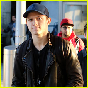 Tom Holland Steps Out After Wrapping Filming for 'Spider-Man: Homecoming'