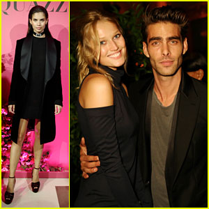 Toni Garrn & Jon Kortajarena Attend Aquazzura's Spanish Dinner in Paris