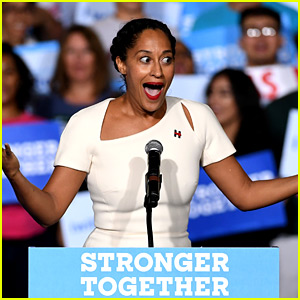 Tracee Ellis Ross Looked So Excited to Introduce Hillary Clinton!