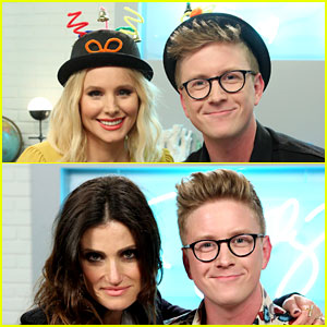 Kristen Bell & Idina Menzel Get Silly on 'The Tyler Oakley Show!' - Watch