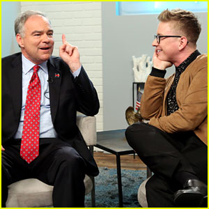 Senator Tim Kaine Identifies Slang Word Definitions with Tyler Oakley - Watch Now!