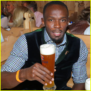 Olympic Runner Usain Bolt Parties at Oktoberfest in Germany