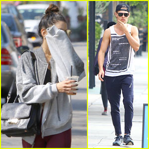 Vanessa Hudgens & Austin Butler Start Their Day Off with Pilates Class