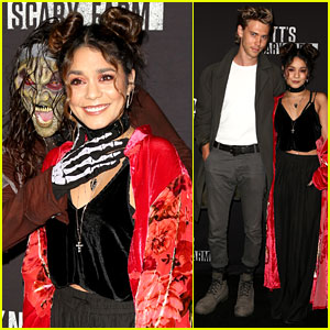 Vanessa Hudgens & Austin Butler Brave the Scares at Knott's Scary Farm Opening!