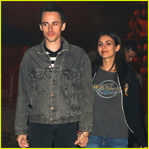 Victoria Justice & Reeve Carney Hit The LA Haunted Hayride Together