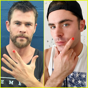Chris Hemsworth Wears Nail Polish for Good Cause, Nominates Liam & Zac Efron!