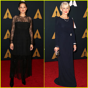 Academy Award Winners Marion Cotillard & Helen Mirren Attend the Governors Awards!