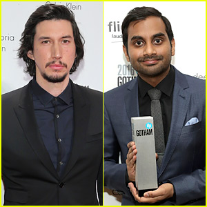 Adam Driver Suits Up for Gotham Awards with Winner Aziz Ansari