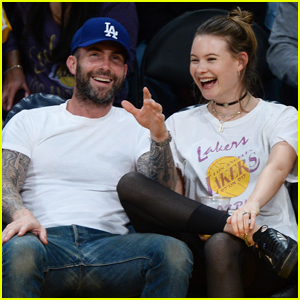 Adam Levine & Behati Prinsloo Take Date Night to the Lakers Game