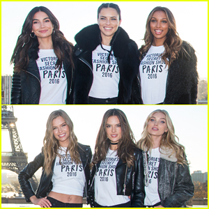 Adriana Lima, Lily Aldridge & More Victoria's Secret Models Visit Eiffel Tower Ahead Of Big Show!