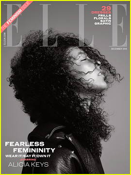 Alicia Keys Tells 'Elle UK' Whoever Isn't A Feminist, Is Crazy!
