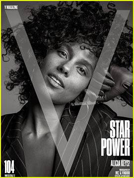 Alicia Keys Goes Makeup Free for 'V,' Explains Natural Beauty
