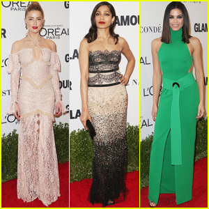 Amber Heard, Freida Pinto & Jenna Dewan Attend Glamour Women of the Year Awards