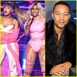 Ariana Grande, Nicki Minaj, & John Legend Performing at AMAs 2016!