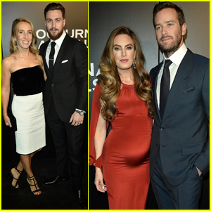 Armie Hammer Couples Up With Pregnant Wife Elizabeth Chambers at 'Nocturnal Animals' Premiere