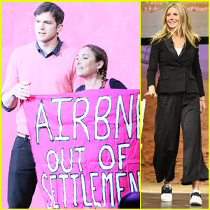 VIDEO: Protester Storms Stage During Ashton Kutcher's Speech at AirBnb Open L.A.
