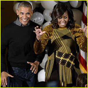 Barack & Michelle Obama Dance to 'Thriller' for Last Halloween at White House - Watch!