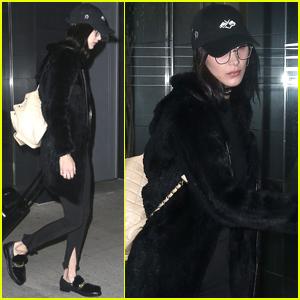 Bella Hadid Keeps It Low Key For Halloween Night