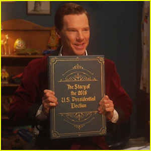 Benedict Cumberbatch Reads James Corden A Scary Election Bedtime Story - Watch Now!