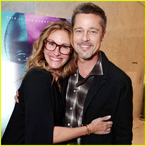 Brad Pitt Makes First Post-Split Appearance Alongside Julia Roberts