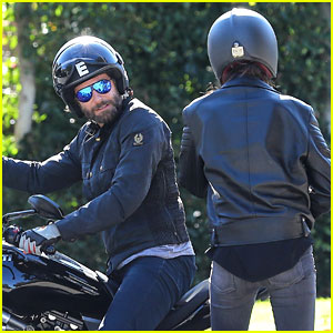 Bradley Cooper Goes for Motorcycle Ride with Irina Shayk!