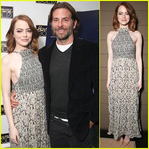 Bradley Cooper Hosts Special Screening For Emma Stone's 'La La Land'!