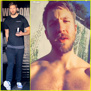 Calvin Harris Goes Shirtless to Ask the Most Random Question