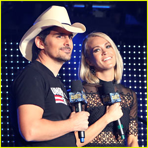 Carrie Underwood & Brad Paisley Attend Pre-CMA Awards Event
