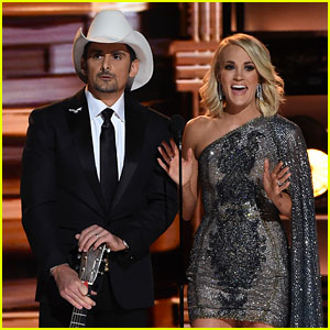 Carrie Underwood & Brad Paisley Mock the Election in CMAs Opening