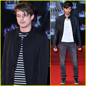 Charlie Puth & Enrique Iglesias Hit Up the NRJ Music Awards in France