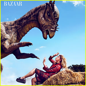 Chloe Moretz Does a 'Coach' Inspired Photo Shoot with a Prehistoric Creature!
