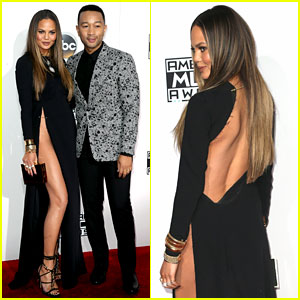 Chrissy Teigen & John Legend Make One Hot Couple at AMAs 2016