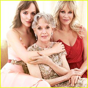 Dakota Johnson Poses for First Formal Portrait with Mom Melanie Griffith & Grandma Tippi Hedren!
