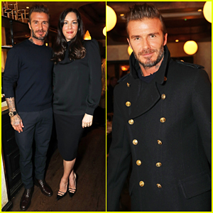 David Beckham Shows Off His Kent & Curwen Collection At Mr Porter Dinner!