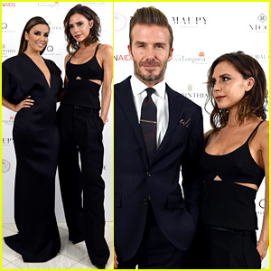 David & Victoria Beckham Support Her BFF Eva Longoria at London's Global Gift Gala!