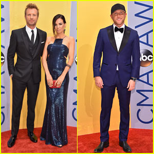 Dierks Bentley & Cole Swindell Suit Up for CMA Awards 2016!