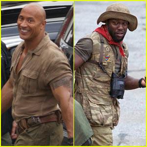 Dwayne Johnson & Kevin Hart Get to Work Filming 'Jumanji'